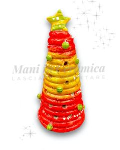 Albero Natale con led in ceramica di Vietri