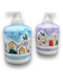 Dosatore sapone mani in ceramica vietrese DECORO NAIF