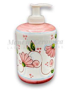 Dosatore sapone mani in ceramica vietrese DECORO PRIMULA NEW
