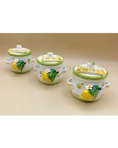 Barattolino porta spezie in ceramica di Vietri Linea Limoni