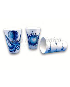 Bicchiere in ceramica di Vietri Mare
