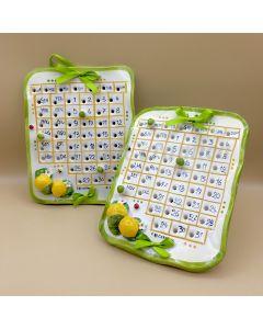 Calendario in ceramica di Vietri Linea Limoni