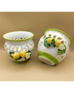Caspò in ceramica di Vietri Linea Limoni