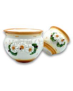 Caspò in ceramica di Vietri linea Margherite