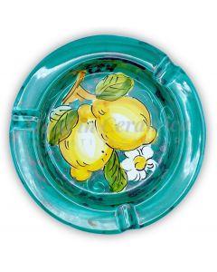 Posacenere rotondo in ceramica di Vietri