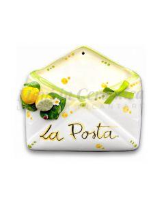 Porta posta in ceramica di Vietri Linea Limoni