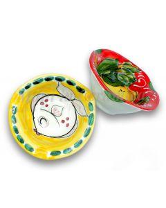 Posacenere con bordo in ceramica vietrese