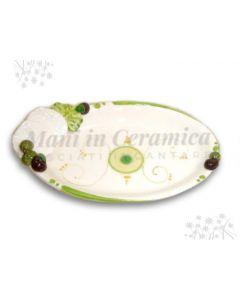 Ovalina in ceramica vietrese Ricotta Salata
