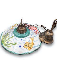 Lampadario in ceramica di Vietri