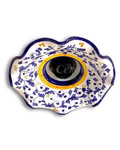 Lampadario in ceramica Vietrese DECORO BAROCCHETTO