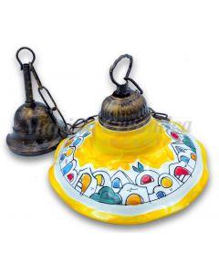 Lampadario in ceramica vietrese DECORO NAIF