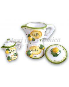 Moka in ceramica di Vietri Linea Limoni