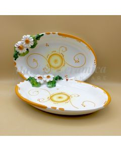 Ovalina in ceramica di Vietri Linea Margherite