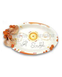 Ovalina Natale per struffoli in ceramica di Vietri