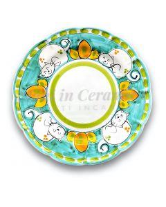 Piatto in ceramica di Vietri Gatto