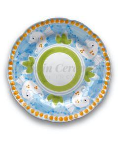 Piatto in ceramica di Vietri Ippocampo