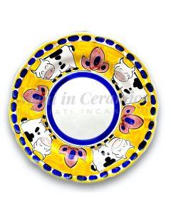 Piatto in ceramica di Vietri Mucca