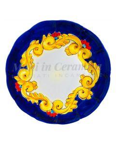 Piatto in ceramica di Vietri Barocco
