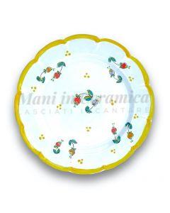Piatto in ceramica di Vietri Campanelle