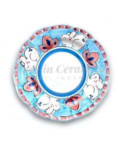 Piatto in ceramica di Vietri Coniglio