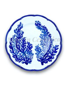 Piatto in ceramica di Vietri Corallo New