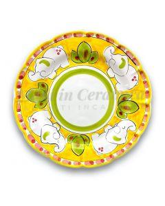 Piatto in ceramica di Vietri Elefante New