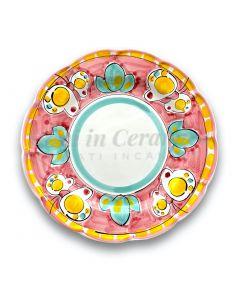 Piatto in ceramica di Vietri Farfalla