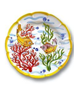 Piatto in ceramica di Vietri Fondo Mare