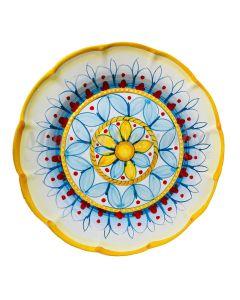 Piatto in ceramica di Vietri Geometrico Ravello