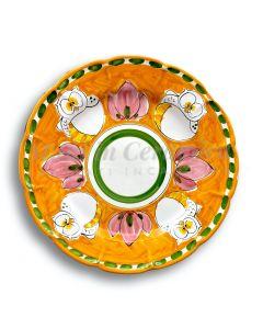 Piatto in ceramica di Vietri Gufo