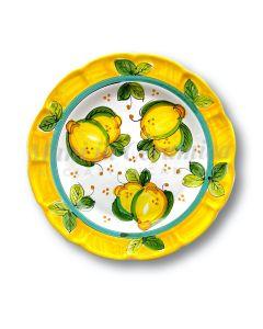 Piatto in ceramica di Vietri Limoni Costiera