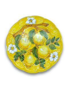Piatto in ceramica di Vietri Limoni