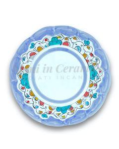 Piatto in ceramica di Vietri Naif