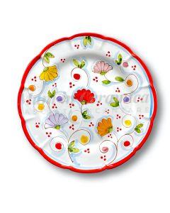 Piatto in ceramica di Vietri Primule New