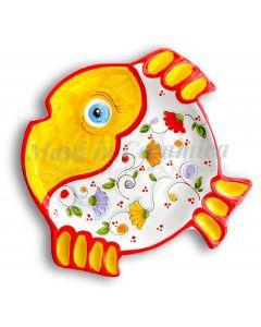 Piatto pesce rotondo in ceramica di Vietri