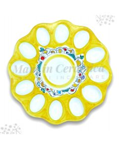 Piatto porta uova Pasqua in ceramica di Vietri