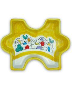 Piatto Puzzle in ceramica di Vietri