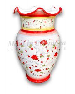 Porta ombrelli smerlato in ceramica di Vietri