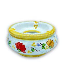 Posacenere antivento in ceramica di Vietri