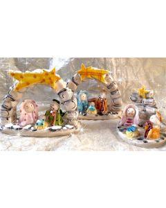 Presepe in ceramica di Vietri