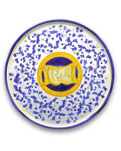 Piatto Pizza in ceramica vietrese DECORO BAROCCHETTO