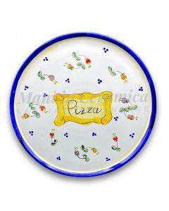 Piatto Pizza in ceramica vietrese DECORO CAMPANELLE
