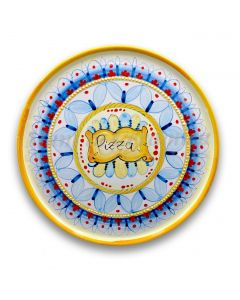 Piatto Pizza in ceramica vietrese DECORO GEOMETRICO RAVELLO NEW