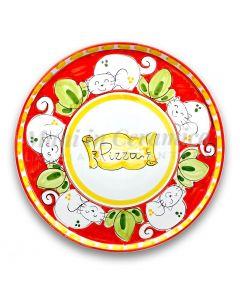 Piatto Pizza in ceramica vietrese DECORO GATTO NEW