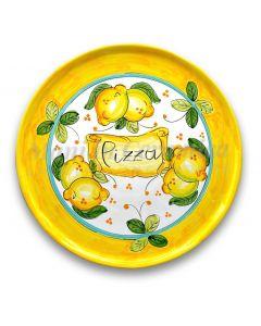 Piatto Pizza in ceramica vietrese DECORO LIMONE COSTIERA NEW