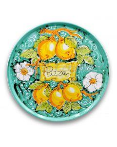 Piatto Pizza in ceramica vietrese DECORO LIMONE VIETRI