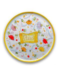 Piatto Pizza in ceramica vietrese DECORO PRIMULA NEW