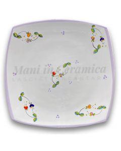 Piatto Sushi in ceramica vietrese DECORO CAMPANELLE