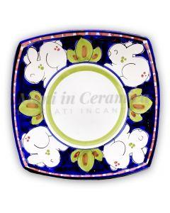 Piatto Sushi in ceramica vietrese DECORO CONIGLIO NEW