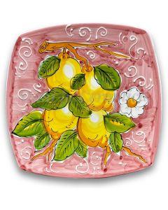 Piatto Sushi in ceramica vietrese DECORO LIMONE VIETRI